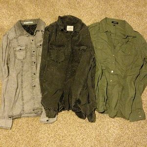 Lot of button up long sleeve shirts American eagle